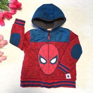 Marvel Spider-Man Fleece Lined Zip up Hoodie